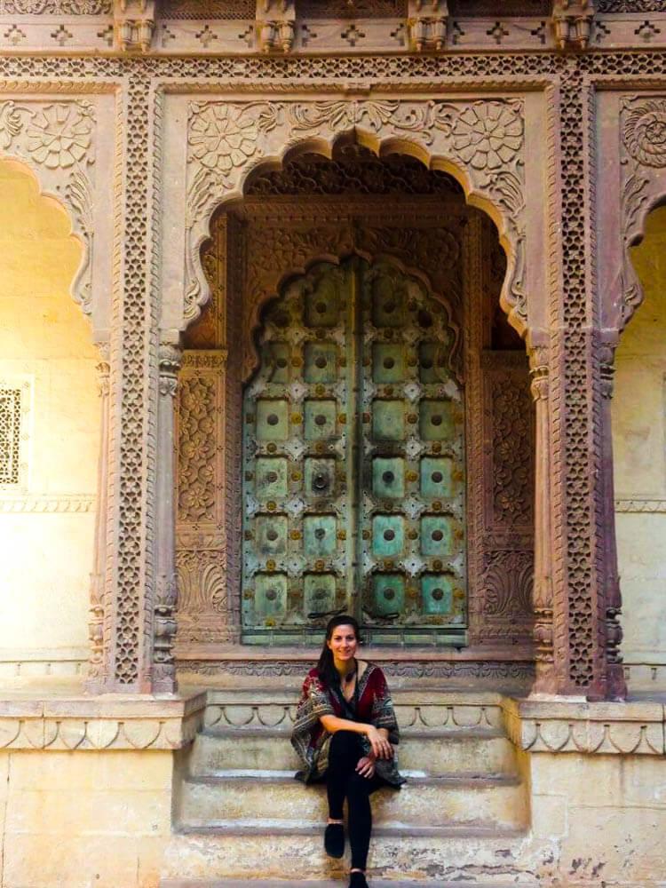 Relaxing-at-Mehrangarh-fort-in-Jodphur