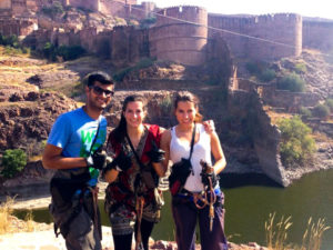 Zip-Line-on-Mehrangarh-fort