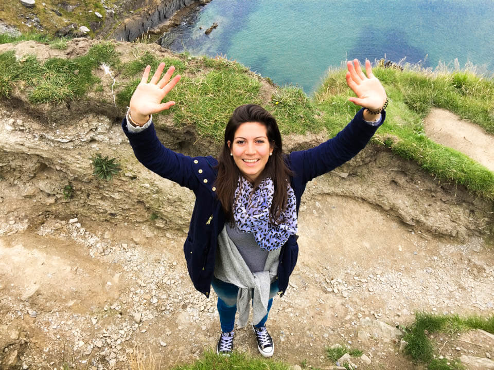 Hello from the cliffs in Ireland
