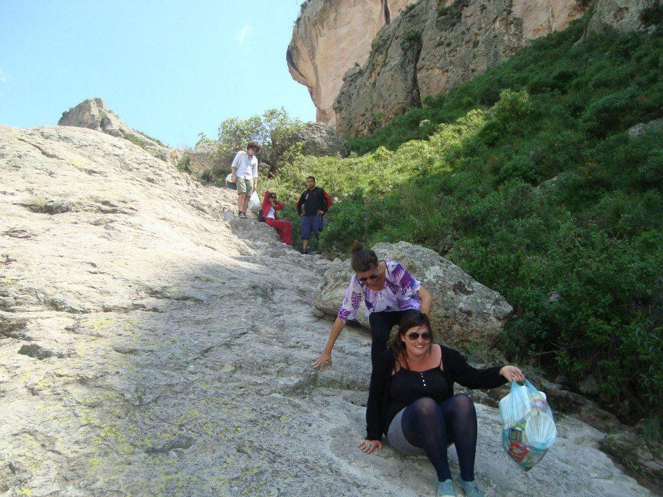 Climbing down la bufa