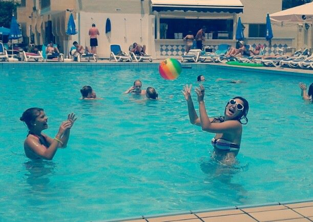 Fun at the pool in Malta