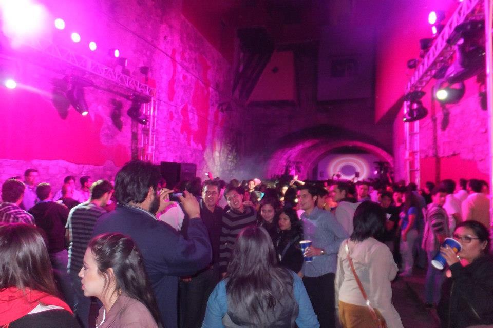 Tunnel party in Guanajuato at Cervantino