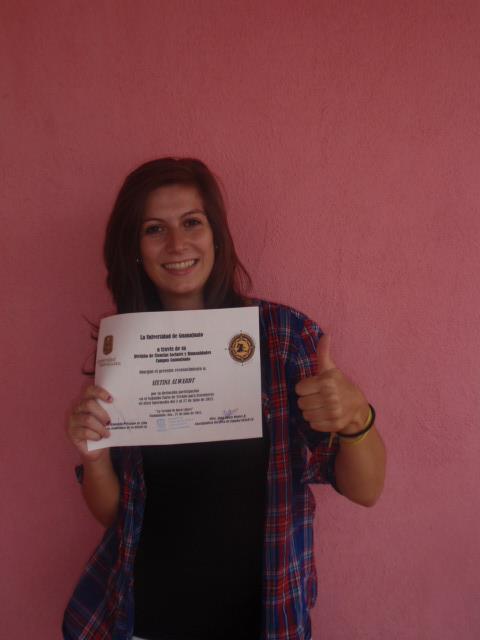 Spanish class certificate in Guanajuato