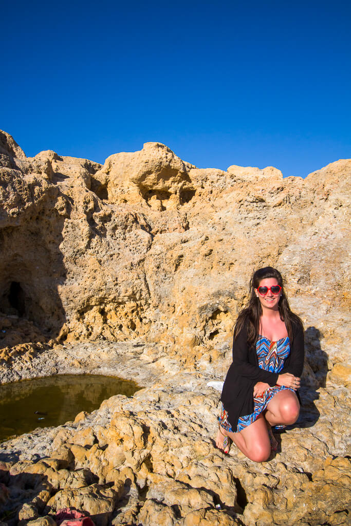 Exploring-the-caves-in-Albufeira-Algarve-Portugal