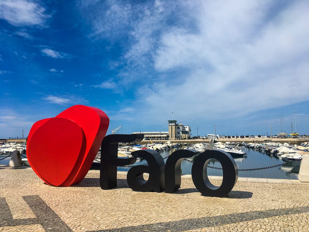 Faro-letters-old-city
