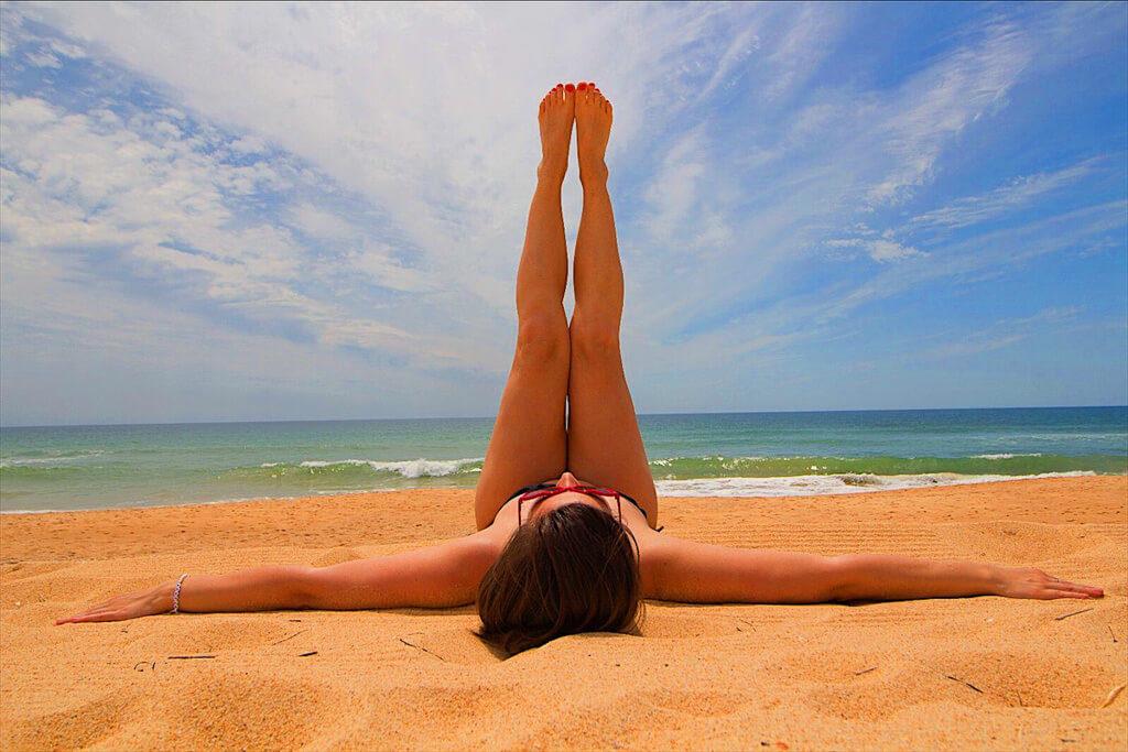 Laying-at-Faro-beach