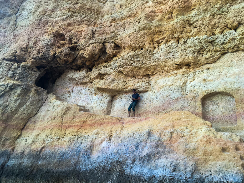 climbing-around-at-the-caves-in-Albufeira