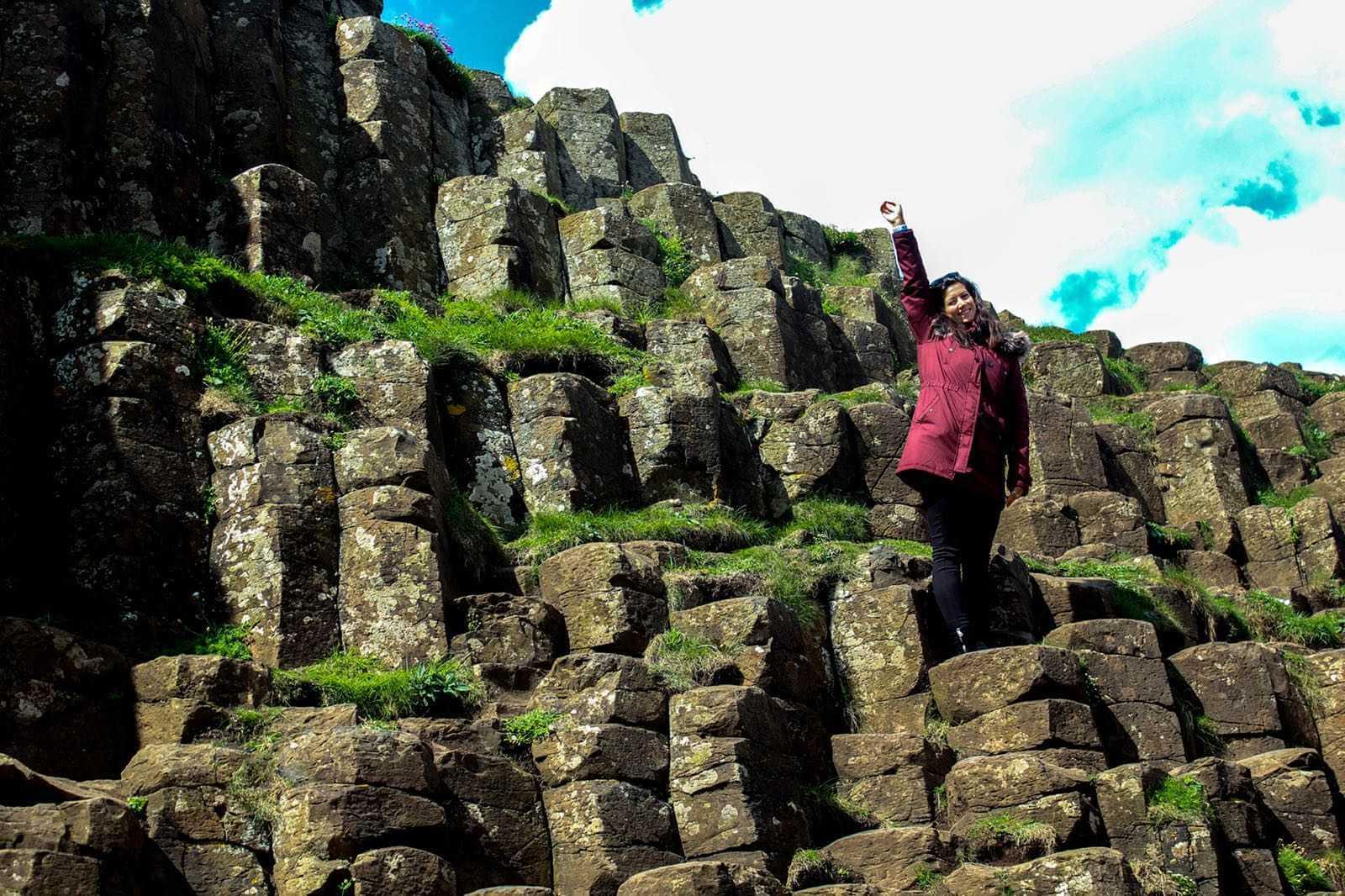 Climbing-around-Giants-Causeway