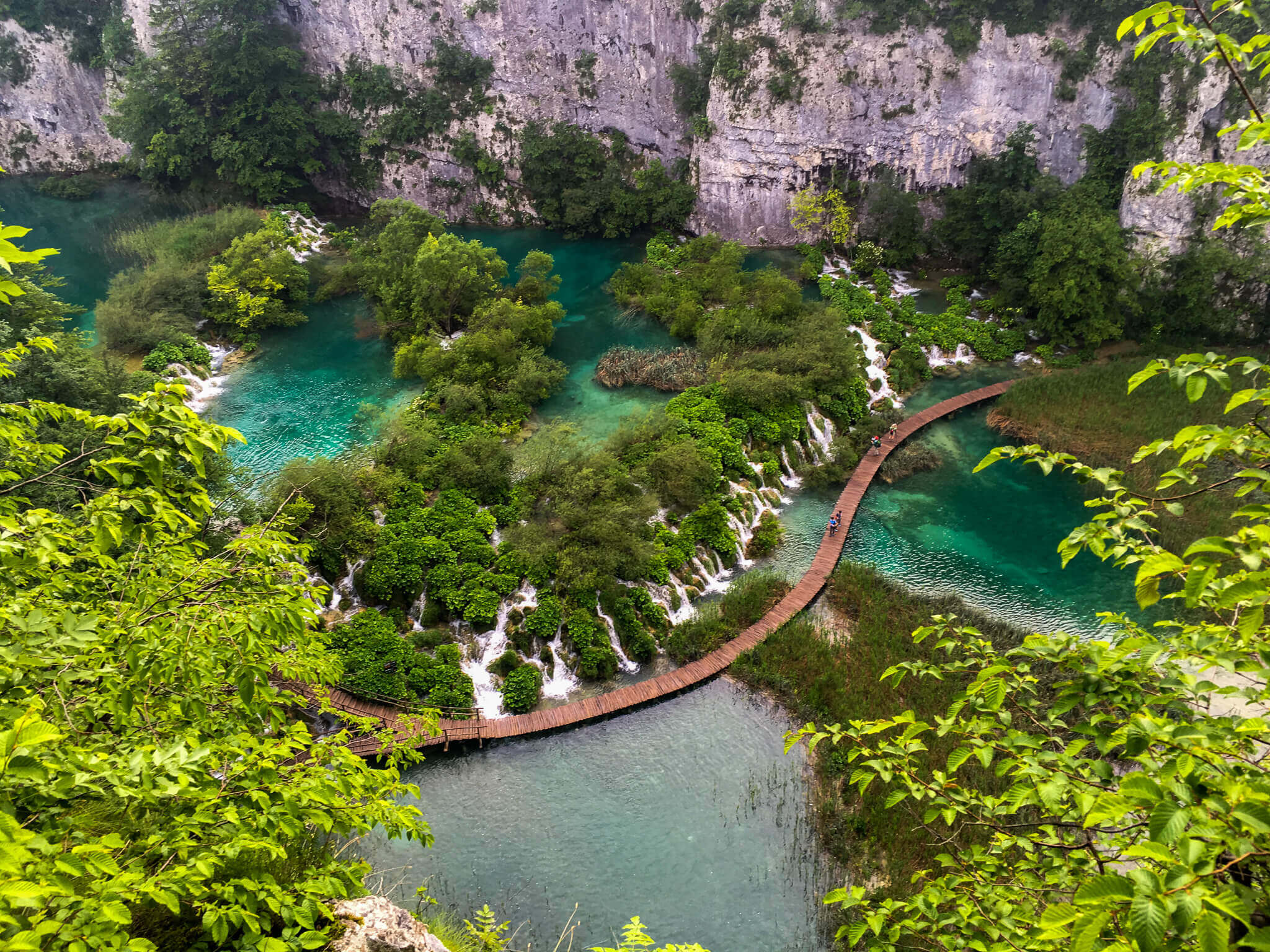 Plitvice national park from above