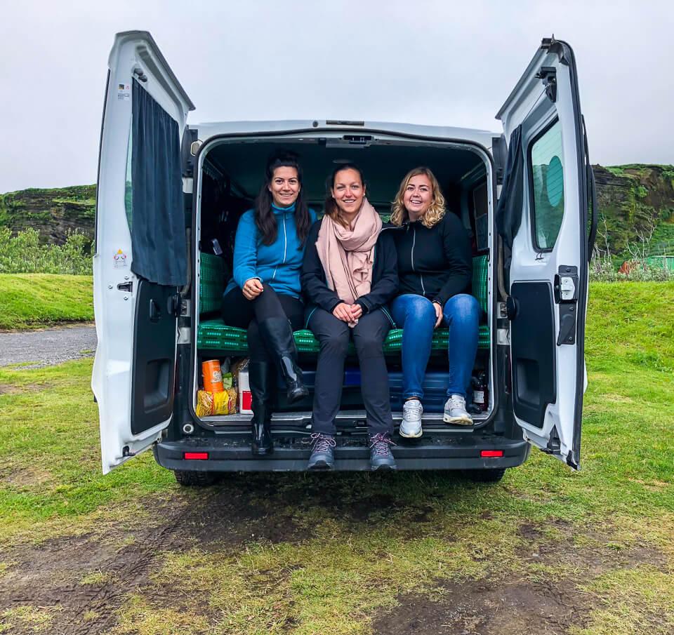 Camper Van Leben in Island