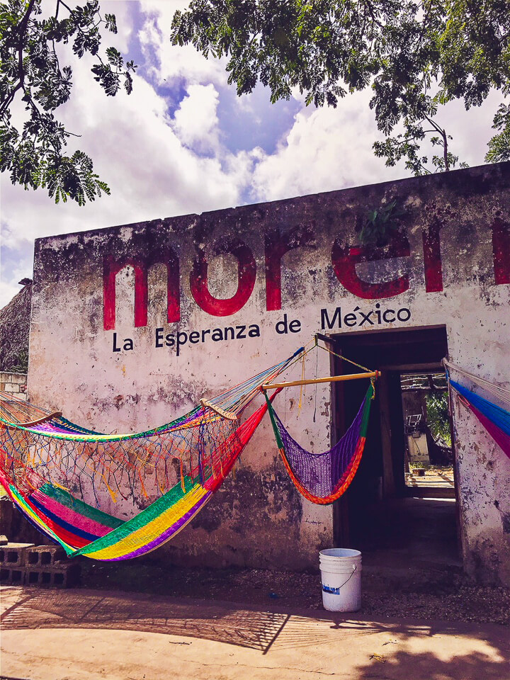 Colorful Hammock in Mexico