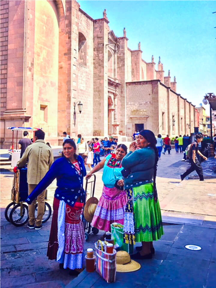 Mexican women on the street