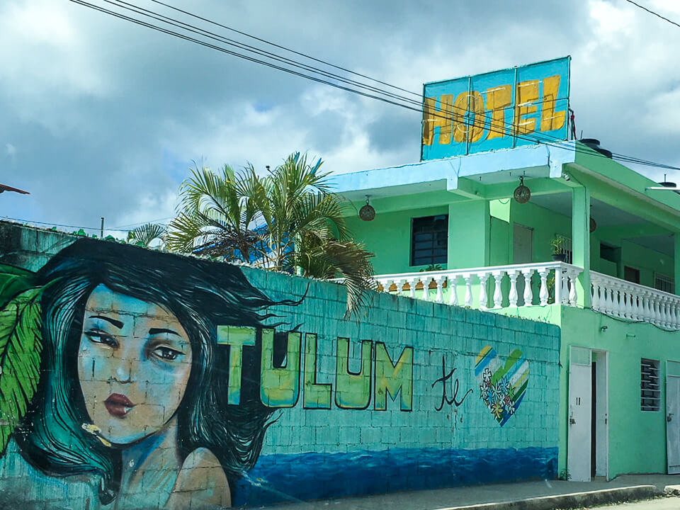 Tulum street art in Mexico