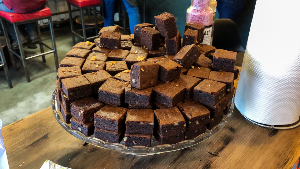 All you can eat brownies in Icelandic Street Food restaurant