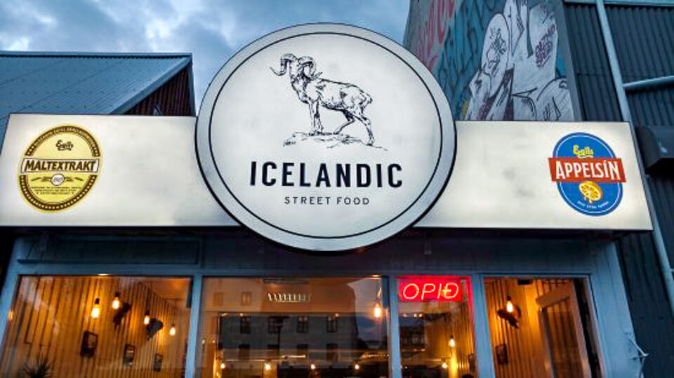 Icelandic street food restaurant in Reykjavik