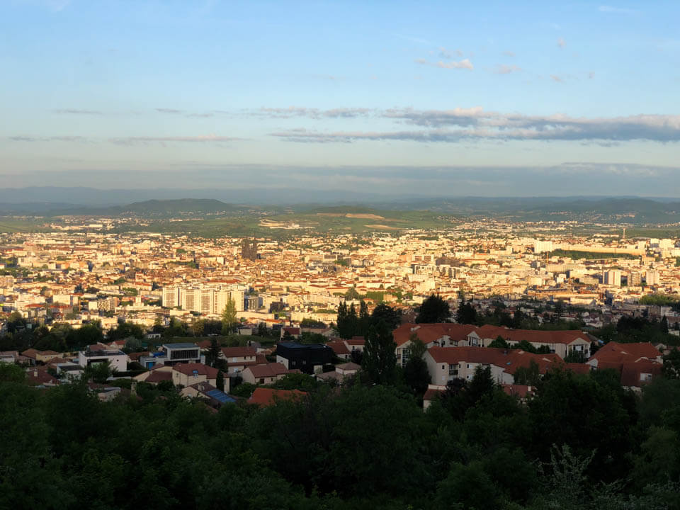 Birds eye-view of Clermont-Ferrand