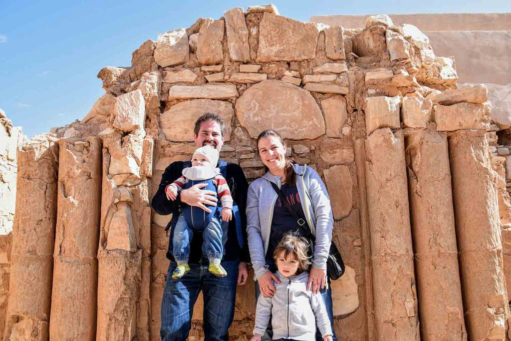 Bastian-and-his-family-in-Jordan-at-the-Desert-Castles