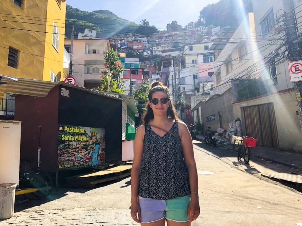 On the bottom of Santa Marta Favela in Rio