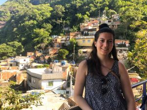 On top of Santa Marta Favela in Rio
