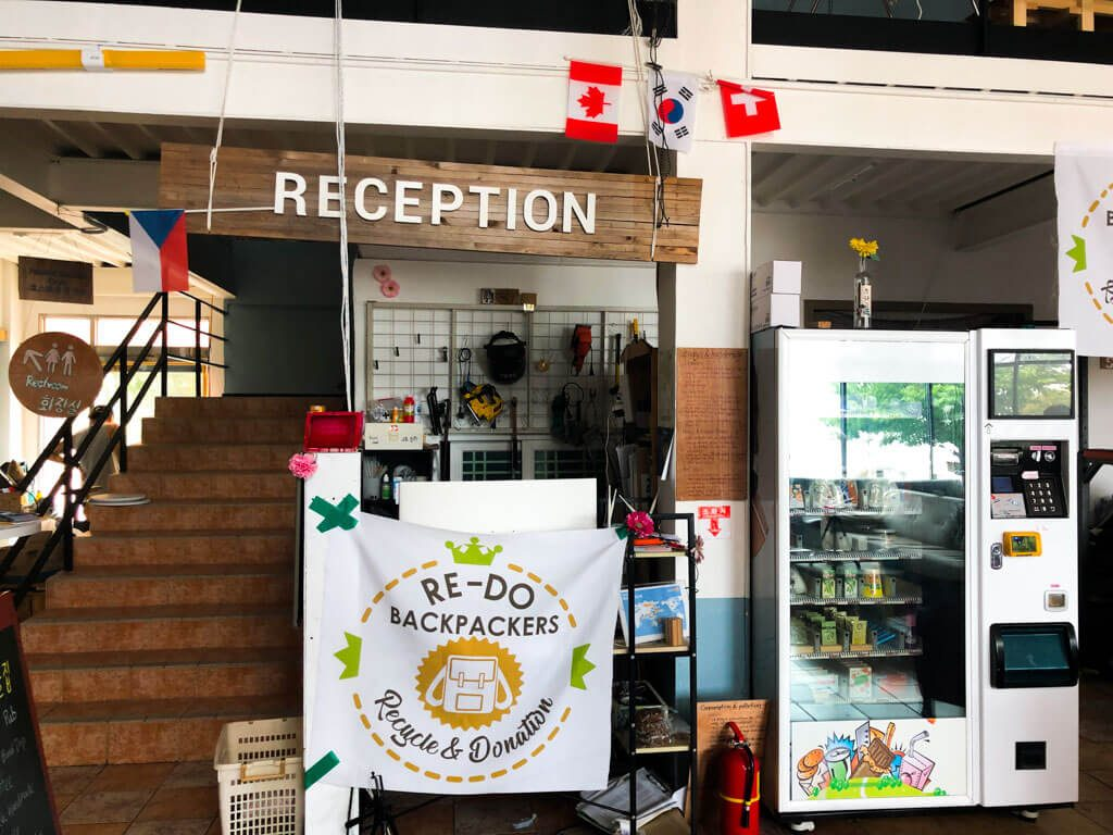 Reception in re-do Backpackers in Jumunjin