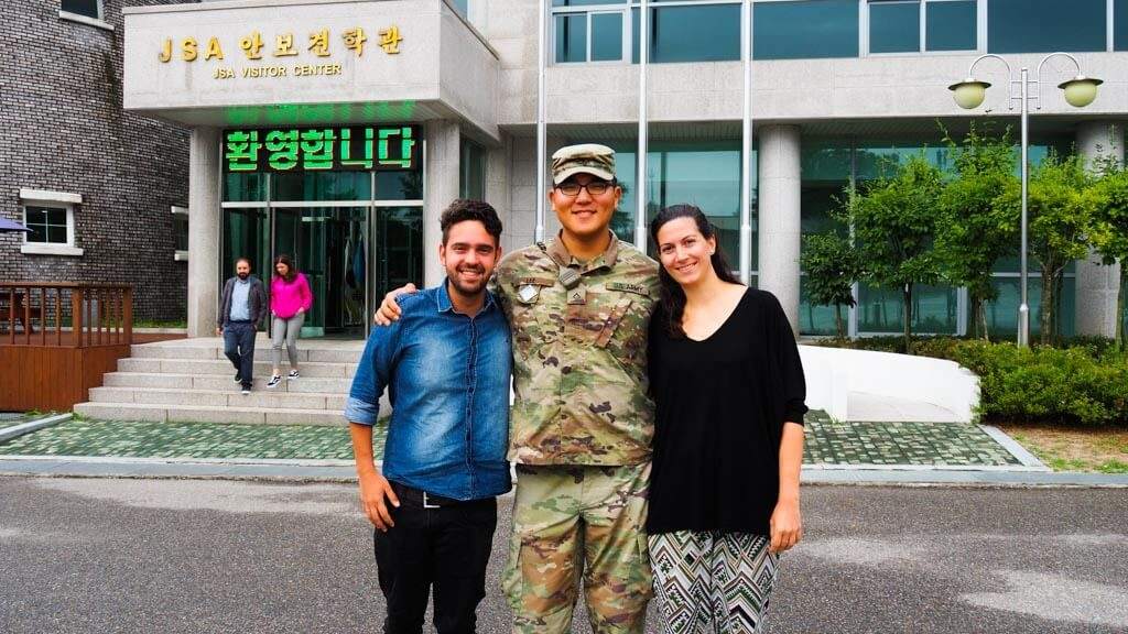 With-an-american-soldier-in-JSA-South-Korea-during-DMZ-tour