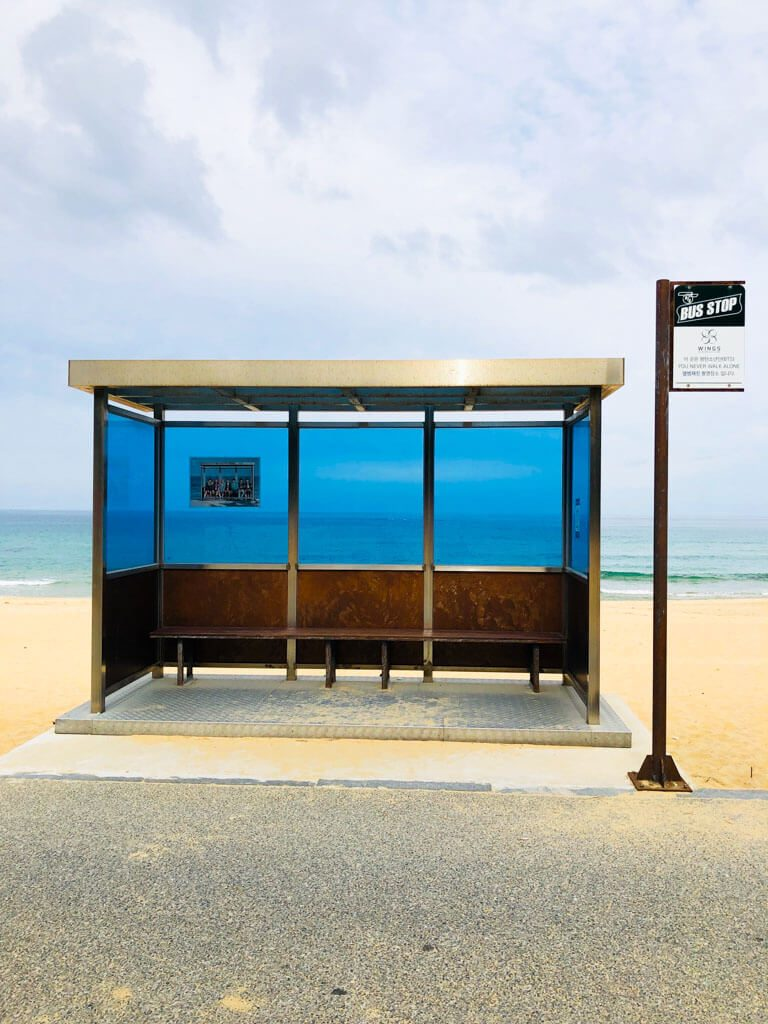 famous-bus-stop-of-album-cover-of-BTS
