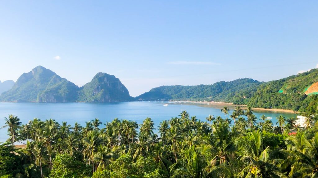 view from the Birdhouse in El Nido
